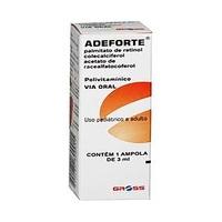 Adeforte caixa com 1 ampola com 3mL de solução de uso oral