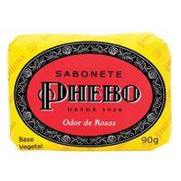 Sabonete Phebo Tradicional odor de rosas, barra, 1 unidade com 90g