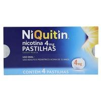 NiQuitin Pastilha 4mg, caixa com 4 pastilhas, sabor menta