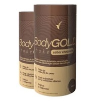 Shake Eleve Body Gold chocolate, 2 frascos com 400g cada
