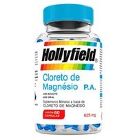 Cloreto de Magnésio P.A Hollyfield 625mg, 3 frascos com 60 cápsulas cada
