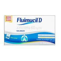 Fluimucil D 120mg/g, caixa com 16 envelopes com 5g de granulado de uso oral