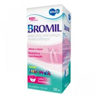 Bromil 0,123mg/mL + 0,160mg/mL + 0,00016mL/mL, caixa com 1 frasco de 150mL de xarope, pediátrico