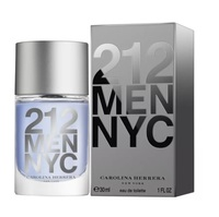 Perfume Masculino Carolina Herrera 212 Men NYC - eau de toilette, 30mL