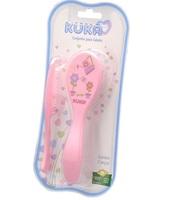 pente + escova, rosa