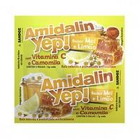 Amidalin Yep! 1 sachê contendo 5 pastilhas sabor mel e limão