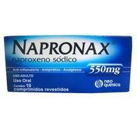 Napronax 550mg, caixa com 10 comprimidos revestidos