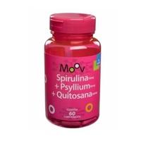 Spirulina + Psyllium + Quitosana Moov frasco com 60 cápsulas