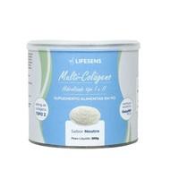 Colágeno Tipo I e II Lifesens frasco com 250g de pó para solução de uso oral, sabor neutro