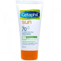 Protetor Solar Cetaphil Sun Gel Creme FPS 70, 50mL