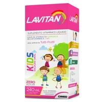 Lavitan Kids Solução, 240mL, Tutti-Frutti