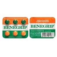 Benegrip 500mg + 30mg + 2mg, blister com 6 comprimidos revestidos