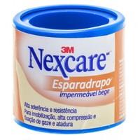 Esparadrapo Impermeável Nexcare Bege, 25mm x 0,9cm