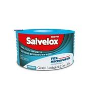 Fita Microporosa Salvelox branca, 2,5cm x 4,5m com 1 unidade