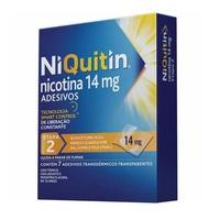 NiQuitin Adesivo 14mg, caixa com 7 adesivos transdérmicos transparentes (etapa 2)