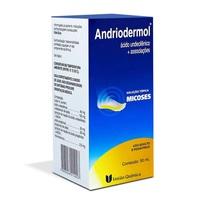 Andriodermol caixa com 1 frasco com 50mL de solução de uso dermatológico