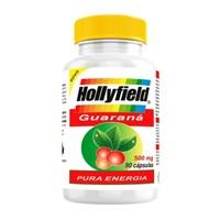 Guaraná Hollyfield 500mg, frasco com 90 cápsulas