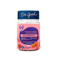 Multibeauty Dr. Good morango com chantilly, frasco com 30 gomas mastigáveis