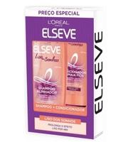 Kit Elseve Liso dos Sonhos shampoo com 375mL + condicionador com 170mL