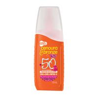 Protetor Solar Cenoura & Bronze Kids spray, FPS 50 com 110mL