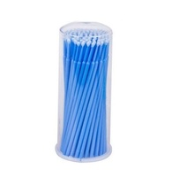Aplicador Microbrush para Cílios Vermonth azul com 100 unidades