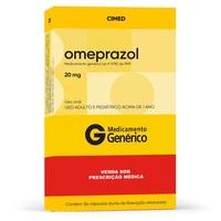 Omeprazol Cimed 20mg, caixa com 56 cápsulas duras de liberação retardada