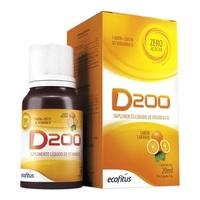 D200 frasco gotejador com 20mL de solução de uso oral