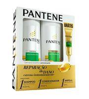 shampoo, 400mL + condicionador, 400mL + grátis, ampola, 15mL