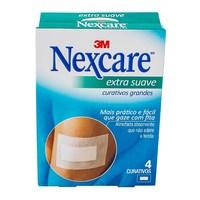 Curativo Nexcare Extra Suave G com 4 unidades