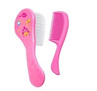 rosa, escova + pente