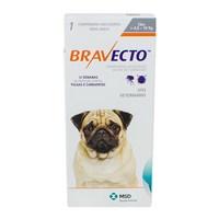 Antipulgas para Cães Bravecto 4Kg e 10Kg, 250mg, caixa com 1 comprimido