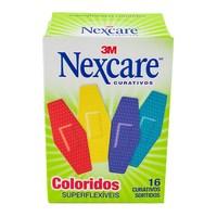 Curativos Coloridos Superflexíveis Nexcare - 16 unidades