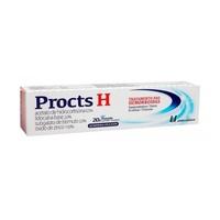 Procts H 0,5% + 2,0% + 2,0% + 10,0%, caixa com 1 bisnaga com 20g de pomada de uso dermatológico + 6 aplicadores