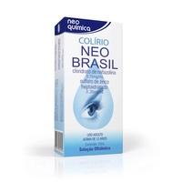 Colírio Neo Brasil 0,15mg/mL + 0,30mg/mL, caixa com 1 frasco com 20mL de solução de uso oftálmico