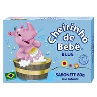 Sabonete Infantil Cheirinho de Bebê blue, barra, 80g, 1 unidade