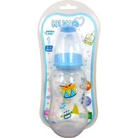 Mamadeira Kuka Natural Plus color, 0 a 6 meses, 160mL, azul
