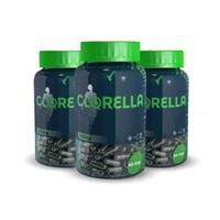 Clorella Eleve 530mg, 3 frascos com 60 cápsulas cada