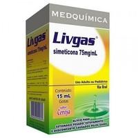 Livgas 75mg/mL, caixa com 1 frasco gotejador com 15mL de emulsão de uso oral