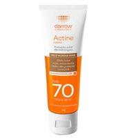 Protetor Solar Facial Darrow Actine Colors Toque Seco FPS 70, pele morena mais com 40g
