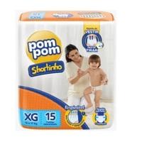 Fralda Pom Pom Shortinho XG, pacote com 15 unidades