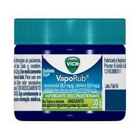 Vick Vaporub 28,2 + 52,6 + 13,3mg/g, unguento, pote com 30g
