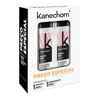 Kit Kanechom Efeito Liso shampoo, 1 unidade com 350mL + condicionador, 1 unidade com 350mL