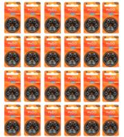 Kit para Aparelhos Auditivos Direito de Ouvir 24 cartelas de pilhas com 6 unidades cada, tamanho A312 + refil, sílica gel desumidificador, 4 unidades com 100g cada + 4 cartelas com 8 filtros cada