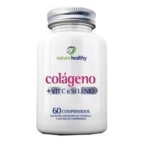 Colágeno + Vitamina C + Selênio Nature Healthy frasco com 60 comprimidos