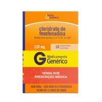 Cloridrato de Fexofenadina Nova Química 120mg, caixa com 10 comprimidos revestidos