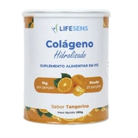 Colágeno Hidrolisado Lifesens frasco com 250g de pó para solução de uso oral, sabor tangerina