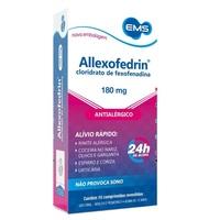 Allexofedrin 180mg, caixa com 10 comprimidos revestidos