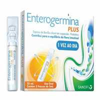 Enterogermina Plus 4bcfu/5mL, caixa com 5 frascos com 5mL de suspensão de uso oral