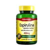 Espirulina Maxinutri 450mg, frasco com 60 cápsulas