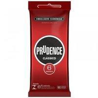 Preservativo Prudence clássico com 6 unidades